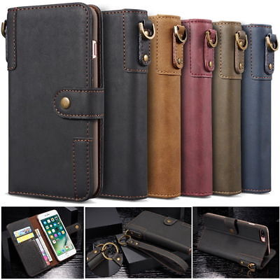 Classic Genuine Real Cow Leather Flip Wallet Case Cover Stand for iPhone XR 6s