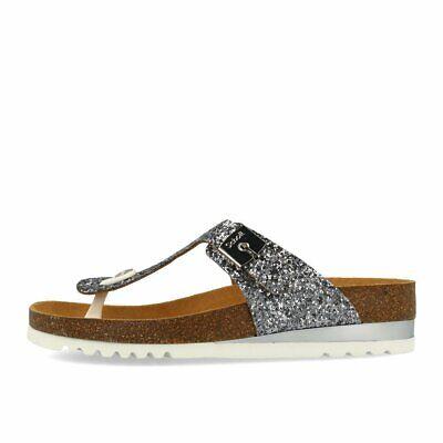 Scholl Glam SS 1 Silver Schuhe Sandalen Zehentrenner Silber Glitter