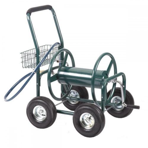 Garden Water Hose Reel Cart Outdoor Heavy Duty Yard Planting W/Basket C50