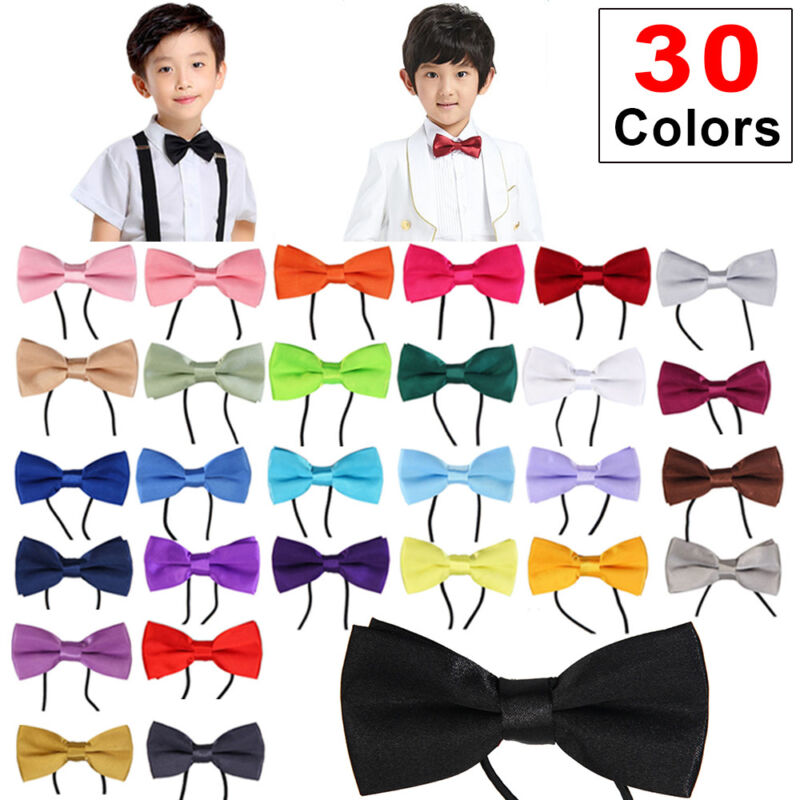 Kids Boys Children Wedding Party Adjustable Pre Tied Bow Ties tuxedo bow tie