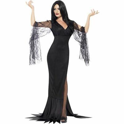Smi - Halloween Damen Kostüm Vamprin Hexe Kleid - Schwarze Witwe Kostüme Hexe