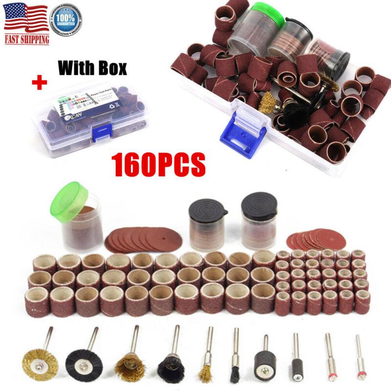 160Pcs Rotary Tool Accessories Kit Grinding Polishing Sandin