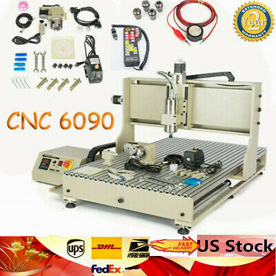 Usb 4 Axis 6090 Cnc Router Metal Engraver Mill Drilling Machine 2.2kwcontroller