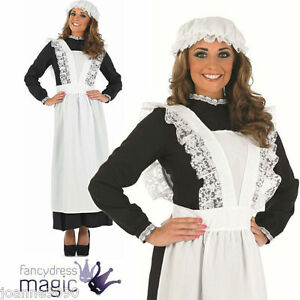 LADIES-VICTORIAN-OLD-TIME-MAID-FLORENCE-NIGHTINGALE-FANCY-DRESS-COSTUME-OUTFIT