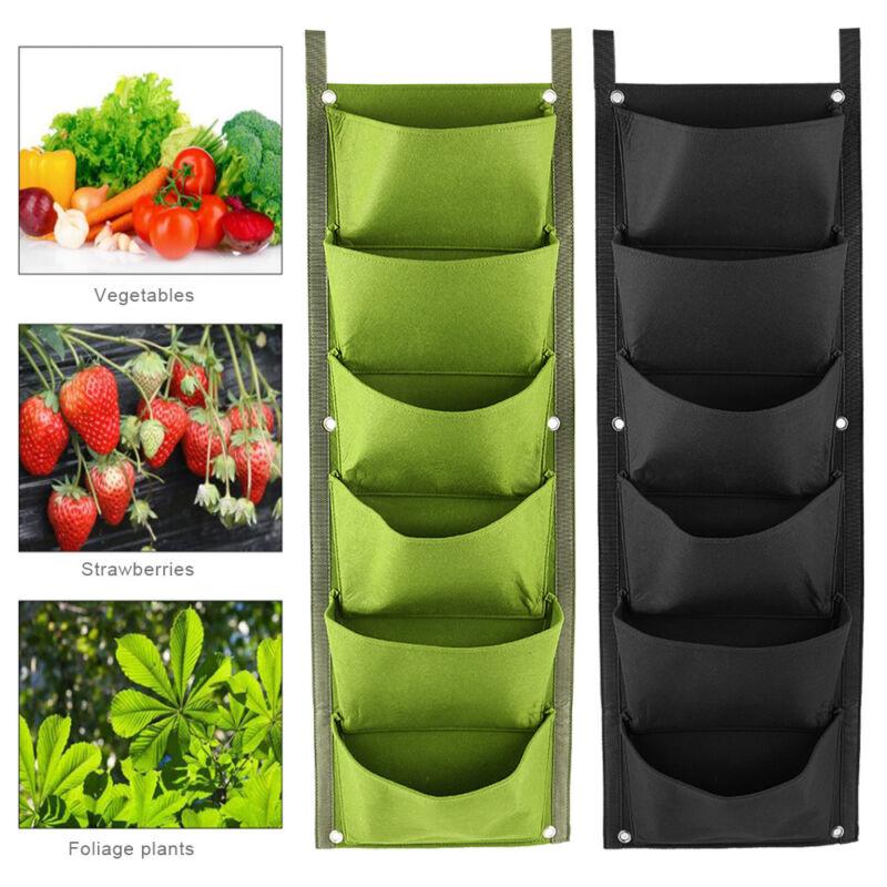 6/7 Pocket Vertical Greening Hanging Wall Garden Plant Grow
