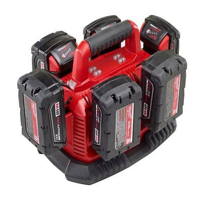 Milwaukee M18 18-Volt Cordless RedLithium XC Fuel Compact 6-Pack Battery Charger