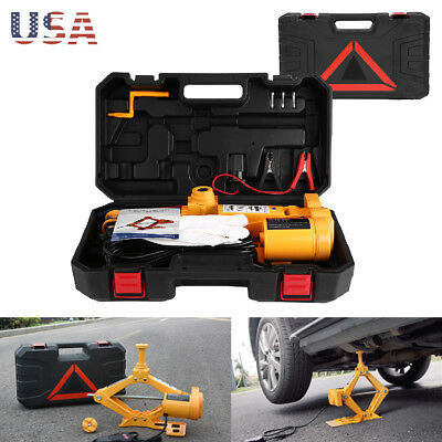 Electric Car Jack 3 Ton DC 12v All-in-one Automatic SUV Lift Scissor Repair Tool