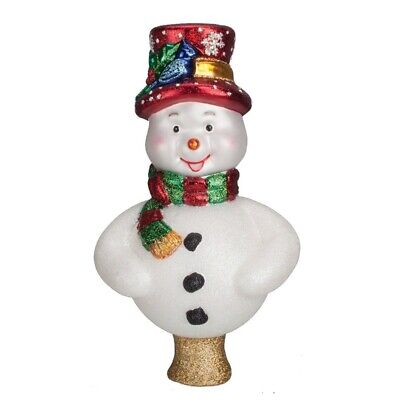 Old World Christmas Frosty Snowman Glass Tree Topper 50022 New