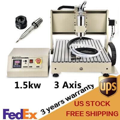 3 Axis 6040 Cnc Router Engraver 3d Desktop Milling Drilling Machine 1500w Vfd Us
