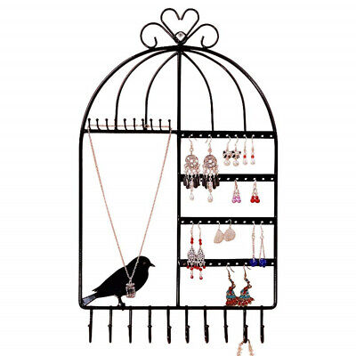 Wall Mounted Jewelry Display Holder Earring Necklace Hook Organizer Hanger Rack