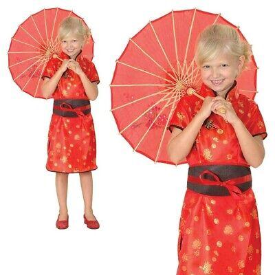 Chinesisch Geisha Mädchen Kostüm China Orientalische Kind Kinder - Kinder Geisha Mädchen Kostüm