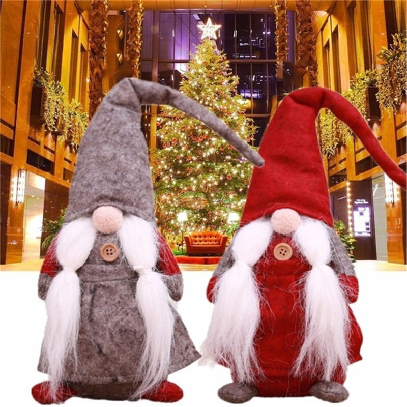 17 Inches Handmade Christmas Gnome Swedish Figurines Holiday Decoration Gifts
