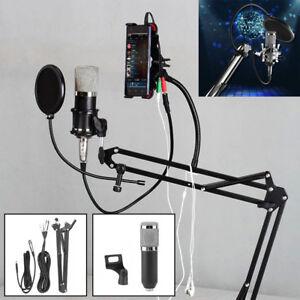 Audio Vocal Studio Condenser Microphone Mic Sound Recording Kit with Shock Mount