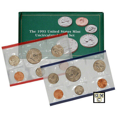1993 P & D  United States Mint Uncirculated Coin Set of 10 Coins (OOAK) for sale  Winnipeg