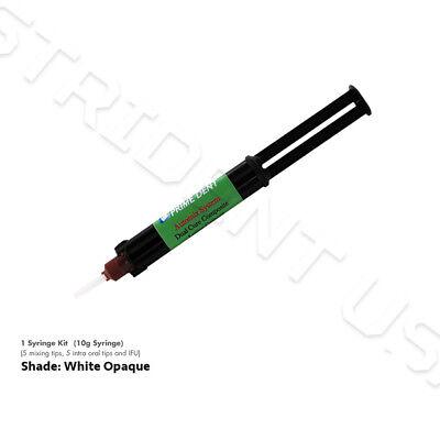Prime Dent Dual Cure Automix Dental Luting Cement 10 Gram Syringe White Opaque
