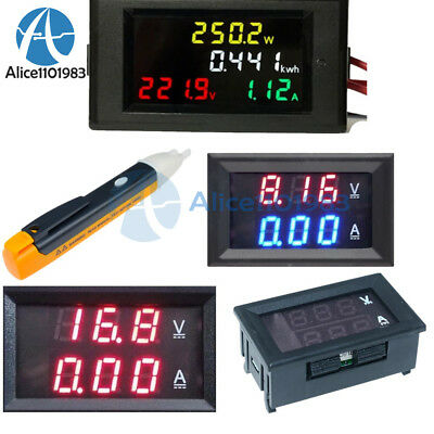 Ac 80-300v200-450v 10a Voltmeter Ammeter Led Digital Power Detector Meter Gauge