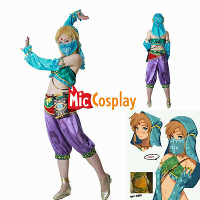 Female Zelda Link Gerudo Cosplay Costume The Legend of Zelda Breath of the Wild ](Cosplay Female Costumes)