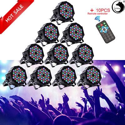 10PCS 36 LED RGB DMX Light PAR CAN DJ Stage Lights for Wedding Party Uplighting Led Party Lights