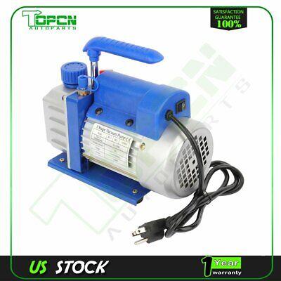 1 Stage 3.5 Cfm 14 Hp Bule Rotary Vane Deep Vacuum Pump Hvac Ac Air Tool Kit