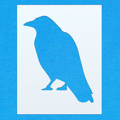 Crow Bird Art (Crow Bird Sitting Animal Mylar Airbrush Painting Wall Art Stencil five)