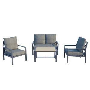 Collado 4 Seater Aluminium Outdoor Sofa Furniture Setting
