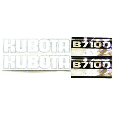 Black White Silver Tractor Hood Decal Set Fits Kubota Tractor B7100
