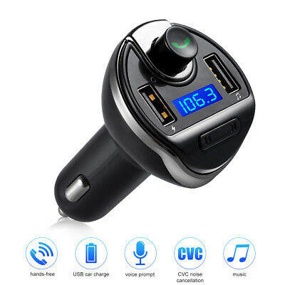 Auto Kfz Bluetooth FM Transmitter Freisprecheinrichtung MP3 USB SD AUX