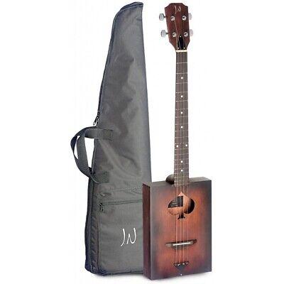 James Neligan Cask Firkin Acoustic Cigar Box Guitar Rosewood Board w/ Gig Bag