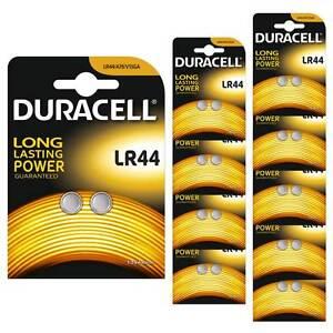 20x Duracell LR44 1.5V Alkaline Button cell Batteries LR 44 A76 AG13 357 SR44 | eBay