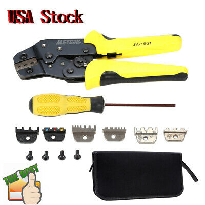 Meterk 4 In 1 Cable Wire Crimping Tool Cord End Terminal Ratchet Crimper Pliers