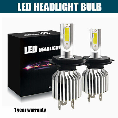 72W 13200LM All-In-One LED Headlight Kit H4 HB2 9003 High/low Beam 6500K
