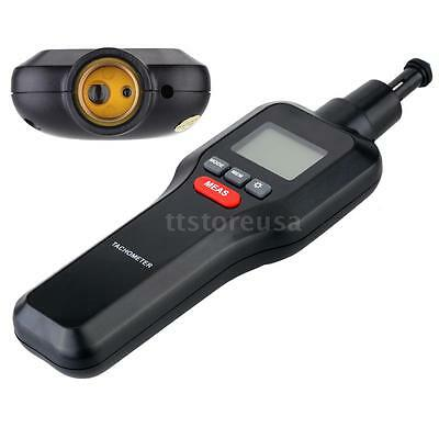 2 In1 Digital Laser Tachometer Tach Rpm Tester Motor Machine Speed Meter Tool Us
