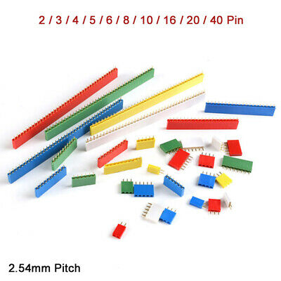 2.54mm Colorful Female Single Row Header Socket Row Strip 2pin - 40pin Connector