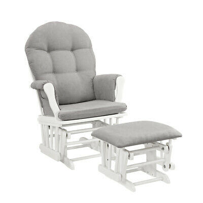 Windsor Glider Durable Baby Nursery Rocking Furniture Chair Glider w Ottoman