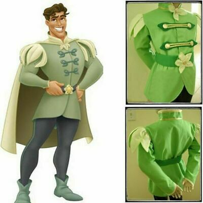 Princess And Frog Halloween Costume (The Princess And The Frog Prince Naveen Halloween Adult Men Cosplay)