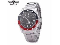 Winner Submariner automatic mechanical watch. Brand new. ( Blue and red rotating bezel )