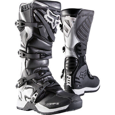 FOX YOUTH COMP 5Y JUNIOR KIDS MOTOCROSS MX BIKE BOOTS - BLACK Fox Comp 5 Boots