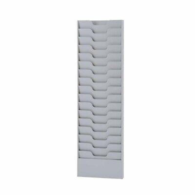 Literature Rack 16 Pockets Display Steel 2.125 X 45.625 X 13.5625 Inchs Platinum