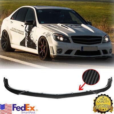 Carbon Fiber For Benz C Class W204 Sport 09-14 Front Bumper Lip Splitter Spoiler
