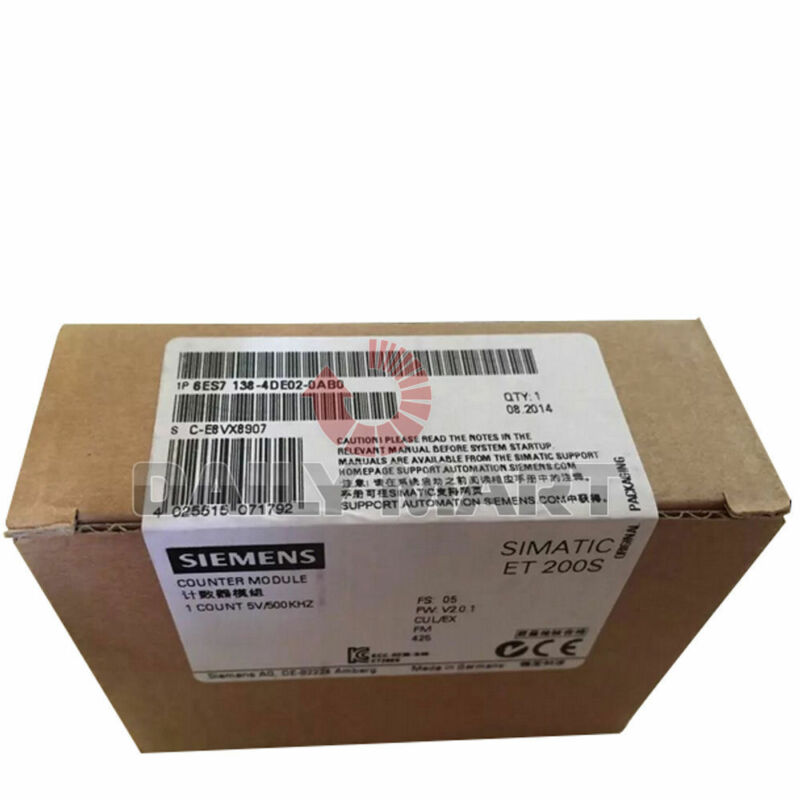 New in Box Siemens 6ES7138-4DE02-0AB0 Simatic DP Electronic Module for ET 200S