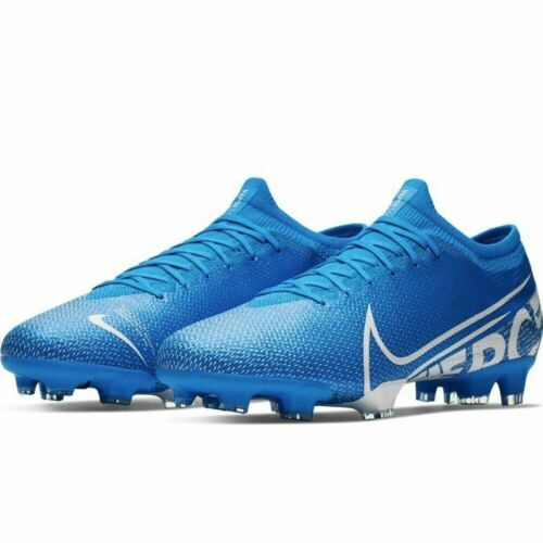 NIKE MERCURIAL VAPOR XIII PRO FG SOCCER CLEATS BLUE WHITE AT7901-414 MSRP $130