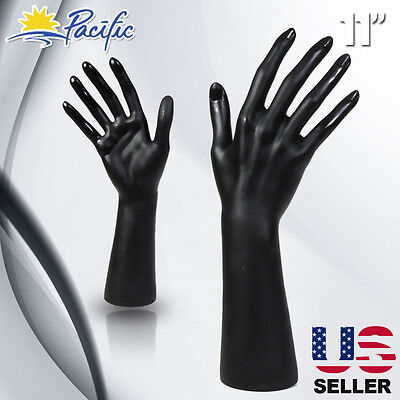 Female Mannequin Hand Display Jewelry Bracelet Ring Glove Stand Holder Black H