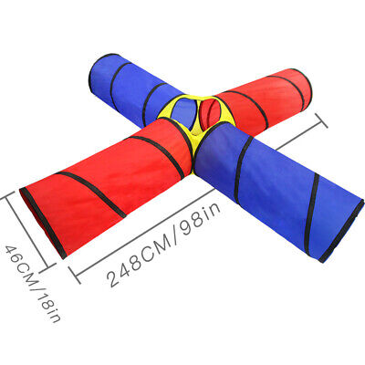 4-way Play Tunnel Folding Portable Playpen Tent Play Yard for Kids Children Play (Children Tents)