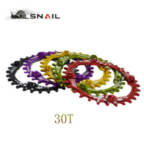 SNAIL 30T MTB XC DH Bike Narrow Wide Round Chainring Chain Ring BCD 104mm Green