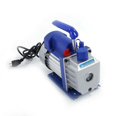 3CFM 1/4HP Rotary Vane Deep Vacuum Pump 110V HVAC AC Refrigerant Charge 1720RPM