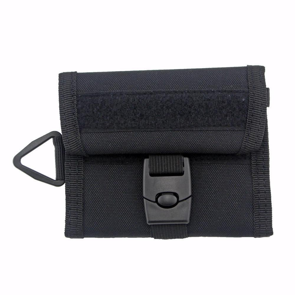 Military Outdoor Sports Wallet Purse Mesh Pocket Hook Loop and Buckle Cloure