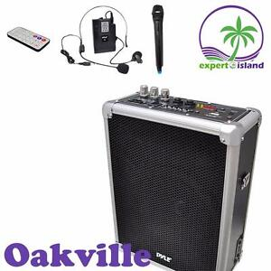 Pyle (PWMA160) Dual Channel 400 Watt Wireless PA System w/USB/SD with 1 Lavalier and 1 Handheld Mic