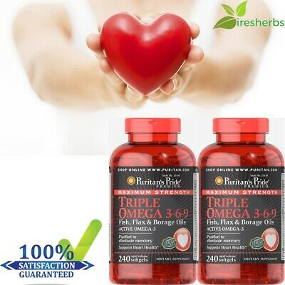 #1 BEST HEART SUPPORT DIETARY SUPPLEMENT JOINTS HEALTH OMEGA 3-6-9 480