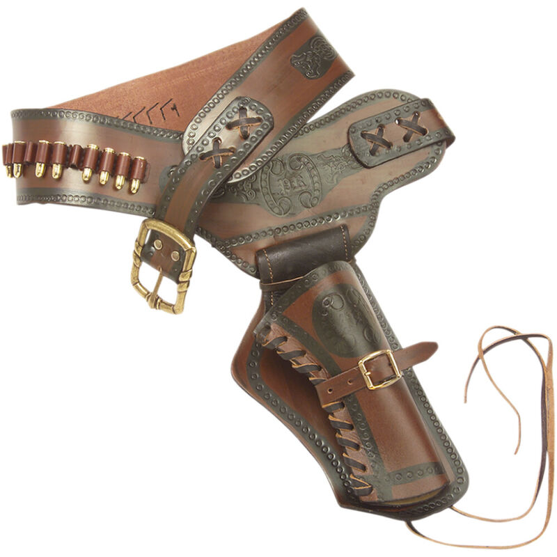 Old West Leather Holster w/ Replica Bullets