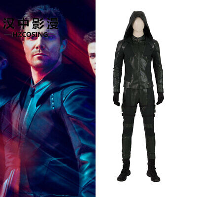 HZYM Green Arrow Season8 Oliver Queen Cosplay Costume Outfit Full Suit Halloween